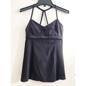 Black lululemon workout tank top
